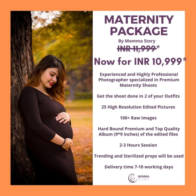 Maternity photography package from Momma Story