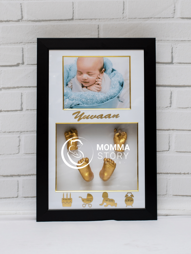 Golden Memories 3d hand and feet casting frame by momma story